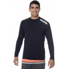 BloqUV Men's Long-Sleeve Sun Protective Jet Athletic Tee Shirt (Black) - BloqUV Sun Protective Tennis Apparel