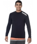 BloqUV Men's Long-Sleeve Sun Protective Jet Athletic Tee Shirt (Black) - Men's Tops