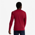 BloqUV Men's Long-Sleeve Sun Protective Jet Athletic Tee Shirt (Red Wine)  - BloqUV Sun Protective Tennis Apparel