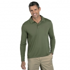 BloqUV Men's UPF 50+ Long-Sleeve Collared Shirt (Army Green) - BloqUV Sun Protective Tennis Apparel