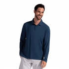 BloqUV Men's UPF 50+ Long-Sleeve Collared Shirt (Midnight Blue) - Bloq-UV Men's Tennis Apparel