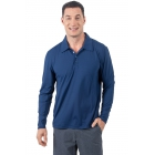 BloqUV Men's UPF 50+ Long-Sleeve Collared Shirt (Navy) - BloqUV Sun Protective Tennis Apparel