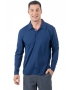 BloqUV Men's UPF 50+ Long-Sleeve Collared Shirt (Navy) - Men's Tops