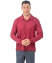 BloqUV Men's UPF 50+ Long-Sleeve Collared Shirt (Red Wine) - Men's Tops
