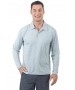 BloqUV Men's UPF 50+ Long-Sleeve Collared Shirt (Soft Gray) - Men's Tops