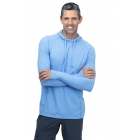 BloqUV Men's UPF 50+ Sun Protective Long Sleeve Pullover Hoodie (Indigo) - Bloq-UV Men's Tennis Apparel