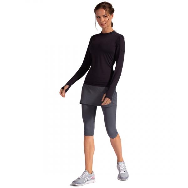 Bloq-UV Women's 24/7 Sun Protective Long Sleeve Top (Black)