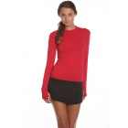 Bloq-UV 24/7 Long Sleeve Top (Red) - Women's Outerwear