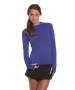 Bloq-UV 24/7 Long Sleeve Sun Protective Top (Twilight Blue) - Discount Tennis Apparel