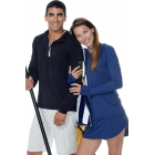BloqUV Women's Sun Protective Long Sleeve Hoodie Dress (Navy) - BloqUV Sun Protective Tennis Apparel