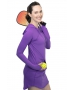 BloqUV Women's Sun Protective Long Sleeve Hoodie Dress (Purple) - New Style Tennis Apparel