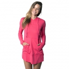 BloqUV Women's Sun Protective Long Sleeve Hoodie Dress (Watermelon) - BloqUV Sun Protective Tennis Apparel