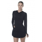 BloqUV Women's Sun Protective Hoodie Dress (Black) - Shop the Best Selection of Tennis Apparel