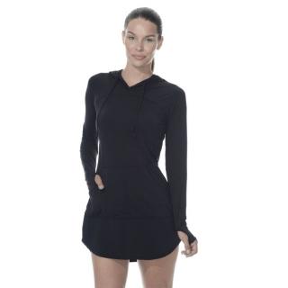 BloqUV Women's Sun Protective Hoodie Dress (Black)