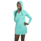 BloqUV Women's Sun Protective Hoodie Dress (Caribbean Blue) - Shop the Best Selection of Tennis Apparel