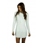 BloqUV Women's Sun Protective Hoodie Dress (Mint) - Shop the Best Selection of Tennis Apparel