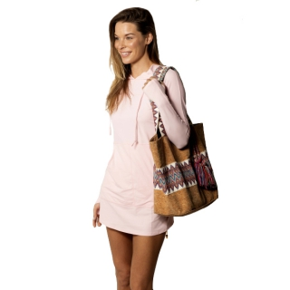 BloqUV Women's Sun Protective Hoodie Dress (Tickle Me Pink)