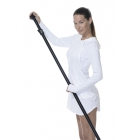 BloqUV Women's Sun Protective Hoodie Dress (White) - Shop the Best Selection of Tennis Apparel