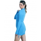 BloqUV Women's Adjustable Length Sun Protective Long Sleeve Coverup (Ocean Blue) - Women's Tennis Apparel