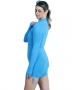 BloqUV Women's Adjustable Length Sun Protective Long Sleeve Coverup (Ocean Blue) - New Style Tennis Apparel