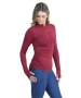 BloqUV Women's Adjustable Length Sun Protective Long Sleeve Coverup (Red Wine) - New Style Tennis Apparel