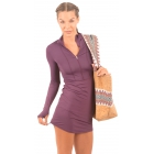 BloqUV Women's Sun Protective Cover Up Dress (Black Berry) - Clearance Sale! Discount Prices on Women's Tennis Apparel