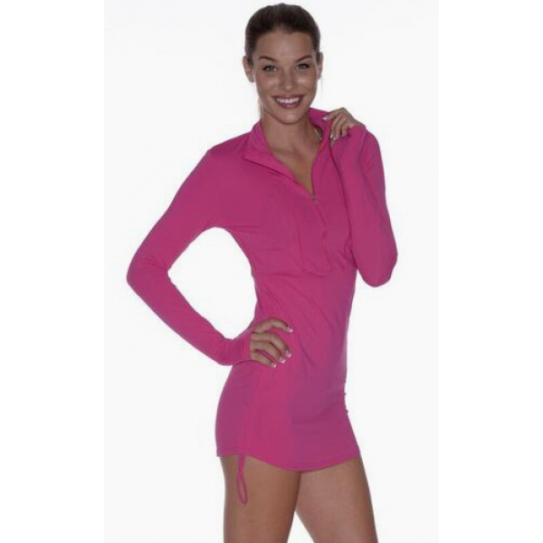 BloqUV Women's Sun Protective Cover Up Dress (Passion Pink)