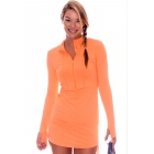 BloqUV Women's Sun Protective Cover Up Dress (Tangerine) - Shop the Best Selection of Tennis Apparel