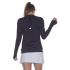 Bloq-UV Long Sleeve Tennis Pullover (Black) - BloqUV Sun Protective Tennis Apparel