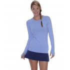 Bloq-UV Long Sleeve Tennis Pullover (Indigo) - Women's Outerwear