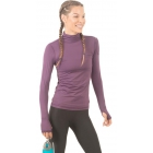 Bloq-UV Turtleneck Long Sleeve Top (Black Berry) - Women's Warm-Ups