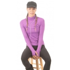 Bloq-UV Turtleneck Long Sleeve Top (Purple) - Clearance Sale: Discount Prices on Women's Tennis Apparel