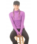 Bloq-UV Turtleneck Long Sleeve Top (Purple) - Discount Tennis Apparel