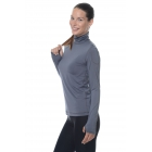 Bloq-UV Turtleneck Long Sleeve Top (Smoke) - Women's Warm-Ups