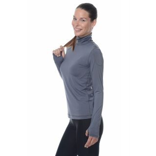 Bloq-UV Turtleneck Long Sleeve Top (Smoke)