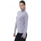 Bloq-UV Turtleneck Long Sleeve Top (Steel Blue) - Women's Warm-Ups