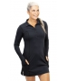 BloqUV Women's Sun Protective Long Sleeve Tunic Dress (Black) - New Style Tennis Apparel