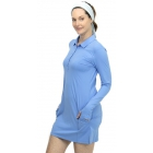 BloqUV Women's Sun Protective Polo Dress (Indigo) - Shop the Best Selection of Tennis Apparel