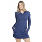 BloqUV Women's Sun Protective Polo Dress (Navy) - Tennis Apparel Brands