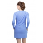 BloqUV Women's Sun Protective Long Sleeve Tunic Dress (Indigo) - BloqUV Sun Protective Tennis Apparel