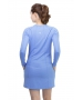 BloqUV Women's Sun Protective Long Sleeve Tunic Dress (Indigo) - New Style Tennis Apparel