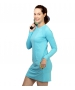 BloqUV Women's Sun Protective Long Sleeve Tunic Dress (Light Tourquoise) - New Style Tennis Apparel