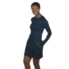 BloqUV Women's Sun Protective Long Sleeve Tunic Dress (Midnight Blue) - BloqUV Sun Protective Tennis Apparel
