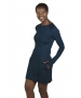 BloqUV Women's Sun Protective Long Sleeve Tunic Dress (Midnight Blue) - New Style Tennis Apparel