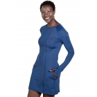 BloqUV Women's Sun Protective Long Sleeve Tunic Dress (Navy) - BloqUV Sun Protective Tennis Apparel