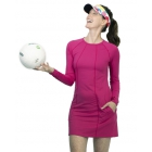 BloqUV Women's Sun Protective Long Sleeve Tunic Dress (Passion Pink) - Women's Tennis Apparel