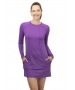 BloqUV Women's Sun Protective Long Sleeve Tunic Dress (Purple) - New Style Tennis Apparel
