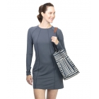 BloqUV Women's Sun Protective Long Sleeve Tunic Dress (Smoke) - BloqUV Sun Protective Tennis Apparel