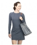 BloqUV Women's Sun Protective Long Sleeve Tunic Dress (Smoke) - New Style Tennis Apparel
