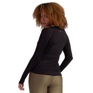 BloqUV Women's Sun Protective Full Zip Long Sleeve Athletic Top (Black)